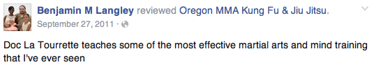 Medford Oregon Kung Fu Review Benjamin L