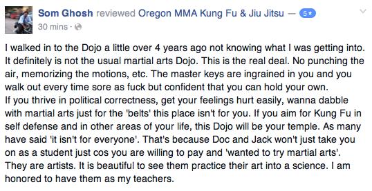 Medford Oregon Kung Fu Review Som G.
