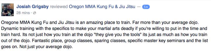 medford oregon kung fu josiah