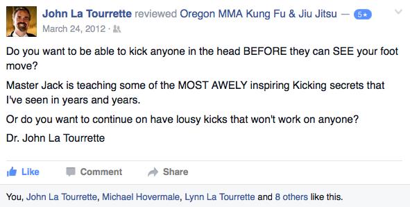john la tourrette kung fu