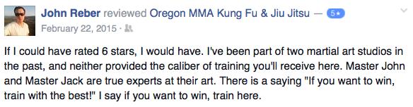 medford oregon kung fu review - john reber