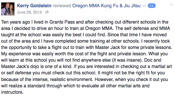 medford oregon kung fu review - kerry goldstein